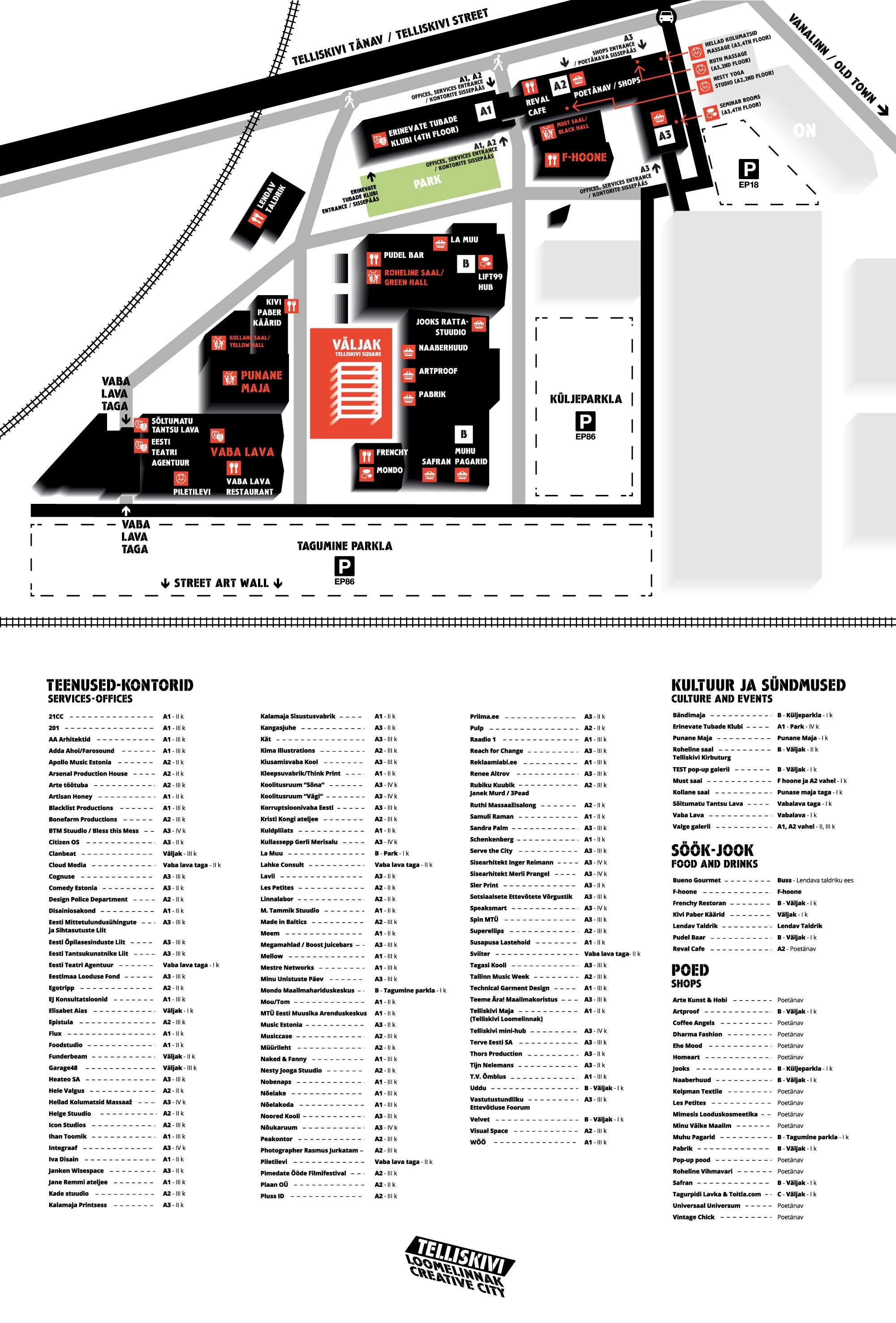 Telliskivi Loomelinnak | Creative City - kaart / map