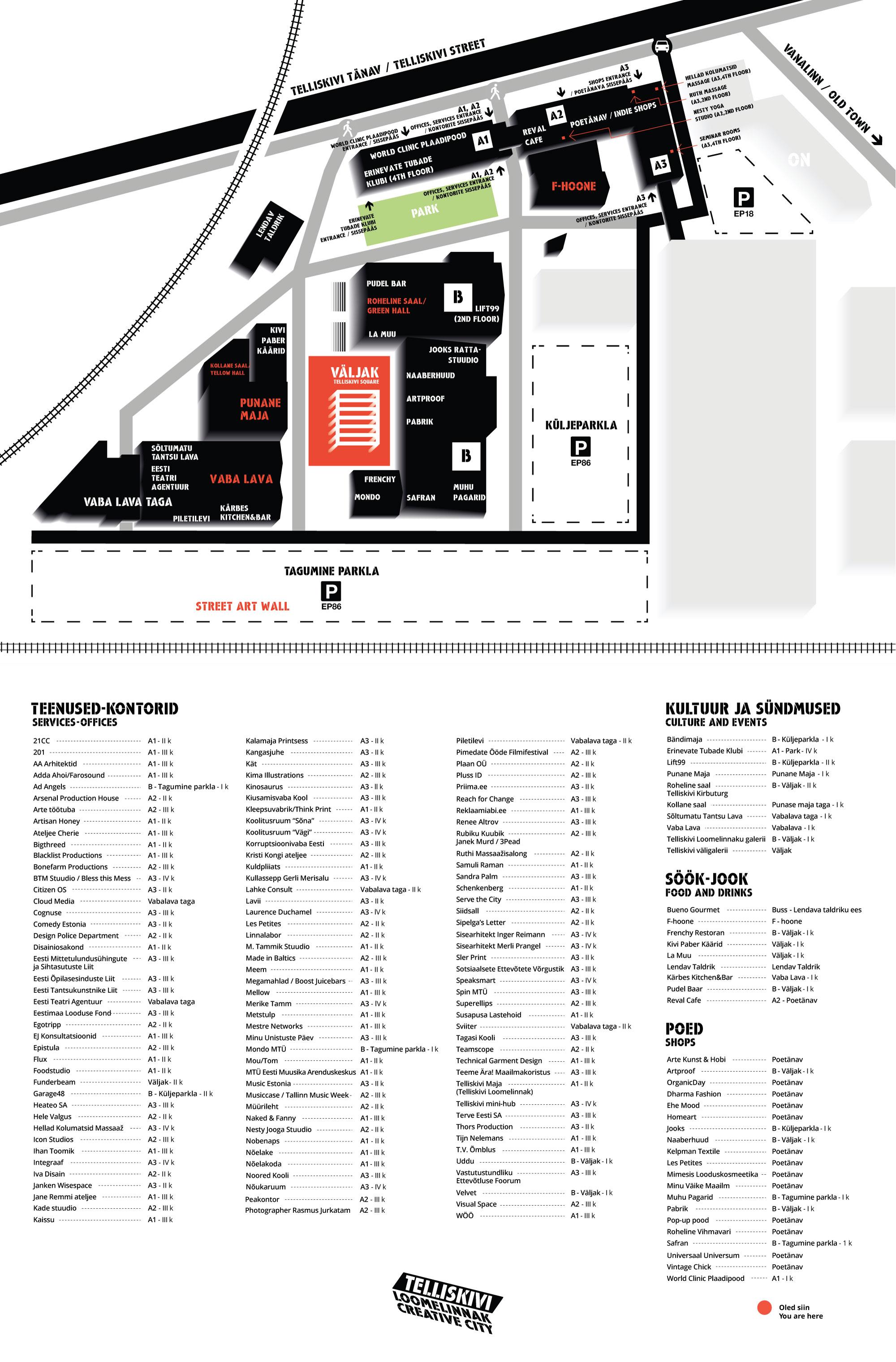 Telliskivi Loomelinnak kaart/map
